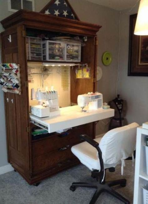 Sewing Room Ideas Dekoschränke Ideen Trendy Sewing Room Ideas Dekoschränke Ideen,Trendy Sewing Room Ideas Dekoschränke Ideen, French Armoire Sewing Cabinet Out-of-Sight Style: Inspiration and Resources for a Compact Closet Office
