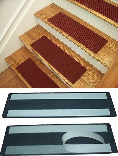 Details About Premium Carpet Stair Tread Sets Rugged Wine 30 X 8 Carpet Stair Treads Stair Treads Rugs