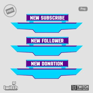 100 Free Twitch Alerts Download Twitch Overlay Template