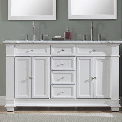 Riccardo 60 Double Bathroom Vanity Set Bathroom Vanity Vanity Double Bathroom Vanity