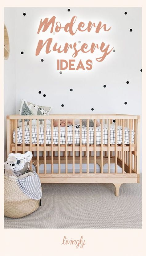 When it comes to nursery style, trending modern decor is a mix of minimalist and mid-century. It has a mostly monochrome pallet, and an eclectic touch of boho chic. While that all might seem like a mouthful, it's rather gorgeous when pulled together just right.