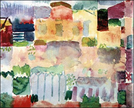 Paul Klee Jardins De La Colonie Europeenne De Saint Germain 1914