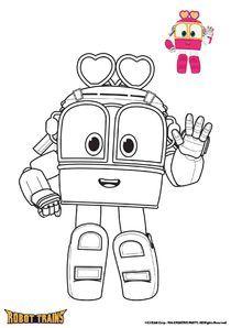 Coloriages Robot Trains A Imprimer Robot Trains Cartoon