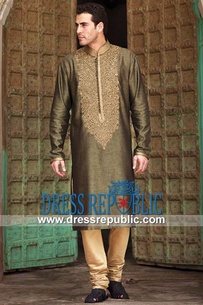 Style DRM1556 - DRM1556, Bridegroom Embroidered Kurta Latest 2013 Collection California, New York, Texas, USA by www.dressrepublic.com