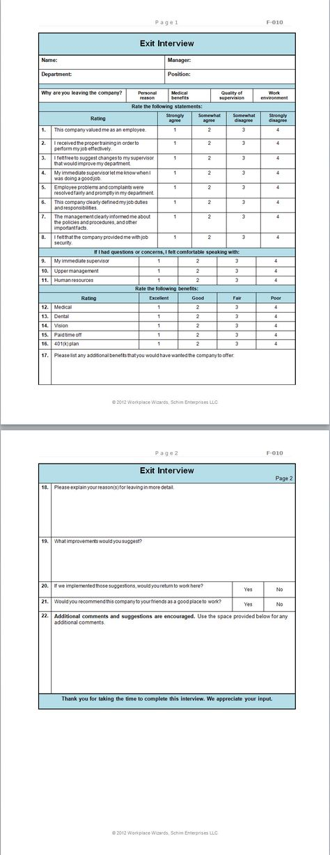 New Cumberland, Pennsylvania - Front of the house Restaurant forms - program evaluation form