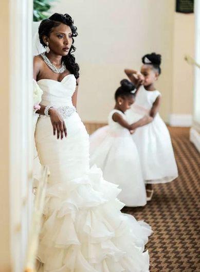 219 Best African White Wedding Images On Pinterest Wedding - Black Girl Wedding Dresses