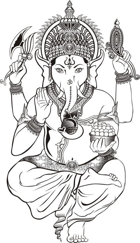 Indian elephant god drawing