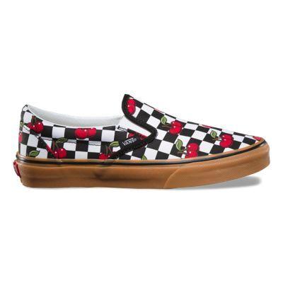 8F7QTL Cherry Checker Slip On   Shoes in 2019   White slip