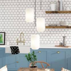Bundaberg 1 Light Single Bell Pendant In 2020 Kitchen Lighting Hanging Lights Geometric Pendant