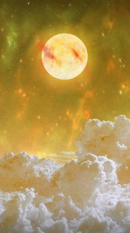 Yellow Moon Beautiful Moon Moon Art Moon Photography