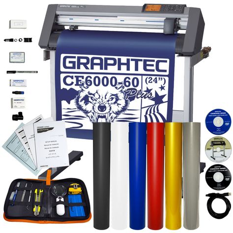 Graphtec Ce6000 60p Plotter W Oracal 751 6 Colors Weeding Kit Oracal Vinyl Installation
