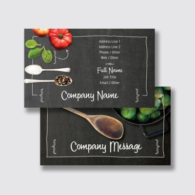 Food Catering Visiting Cards Templates Designs Vistaprint Food Business Card Design Food Business Card Menu Card Design