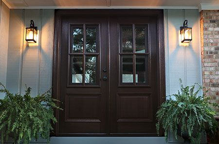 Mahogany Breezeport Tdl 4lt Double Door 2 1 4 Thick Double Doors Wood Exterior Door Diy Furniture Decor