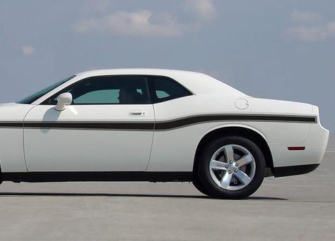 2008-2019 Dodge Challenger Beltline Mid Body Door Accent Mopar Style Vinyl Graphics 3M Decals Package  #decal #stripes #chargerstripes #automotorstripes #pinstripes #mustangdecals #vinylgraphics #carstripes #camarodecals #challengerstripes