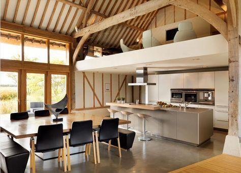 Kitchen With Mezzanine Luxurykitchendesigns Barn Kitchen Barn