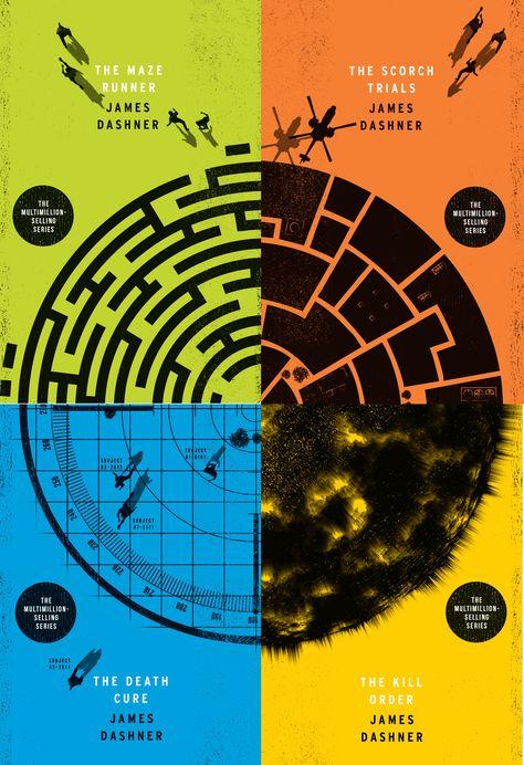 Cool Art: The Maze Runner book covers