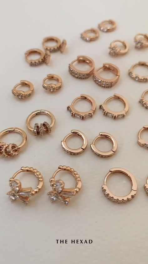 Dainty huggie hoops with subtle diamante detail. Designed for everyday sophistication, these modern hoop earrings will easily elevate your daily style factor. Discover a variety of hoop designs at thehexad.com