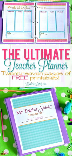 The Ultimate Teacher Planner Printable teacher planner, Planners - free printable templates for teachers