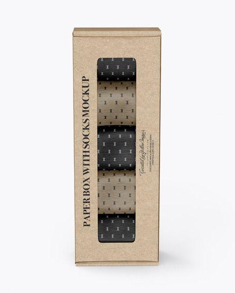 Download Kraft Paper Box With Socks Psd Mockup Mockup Free Psd Mockup Psd Free Psd Mockups Templates