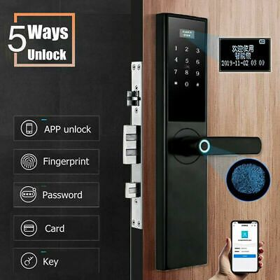 Advertisement Electronic Smart Door Lock Touch Password Phone App Key Cards Remote Control New Smart Door Locks Fingerprint Door Lock Door Handles