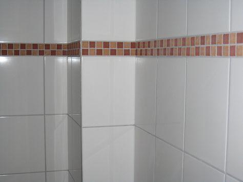 Terracotta Mosaik Bordure In Kombination Mit Weiss Glanzenden