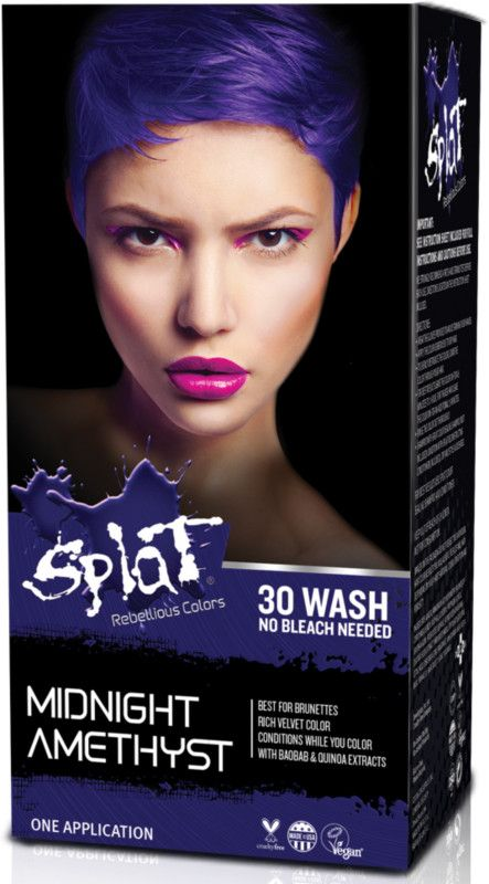 Splat Hair Color Kits No Bleach Needed Semi Permanent Dye Formulated To Deliver Rich Velvety Color Conditi Splat Hair Color Bleach Hair Color Dark Hair Dye