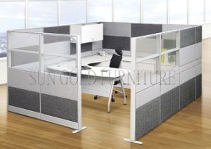 Hot Item Modern Aluminum Partitions Mixed With Fabric And Glass