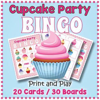 Cupcake Themed Game Cupcake Bingo Game With Images Baking