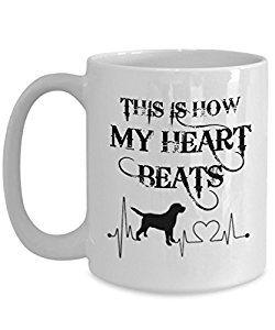Amazon Com Labrador Retriever Mug This Is How My Heart Beats
