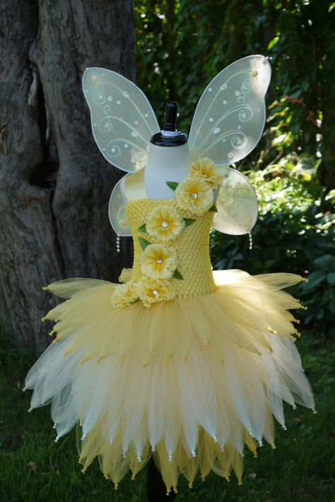 Gold yellow Fairy tutu dressfairy costume by TheMuseCreations