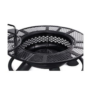 Big Horn 47 In W Black Steel Wood Burning Fire Pit At Lowes Com