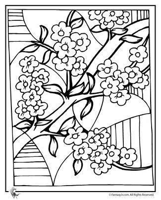 דפי צביעה לט ו בשבט Internet Mom אמא אינטרנט Abstract Coloring Pages Coloring Pages Cherry Blossom Art