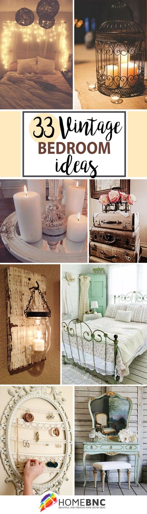 33 Vintage Bedroom Decor Ideas To Turn Your Room Into A Paradise | Vintage  Bedrooms, Decoration And Bedrooms