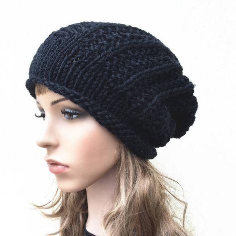 8e7212dea8e Hand knit hat Oversized Chunky Wool Hat slouchy hat by MaxMelody