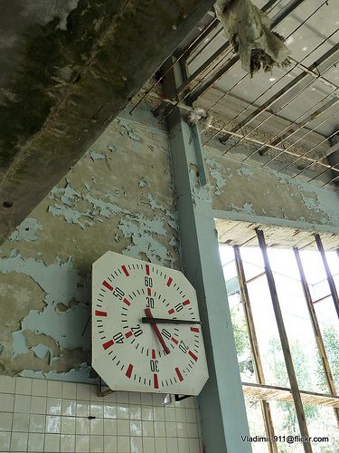 Swimming Pool Complex in Pripyat, down wind from Chernobyl Reactor #4