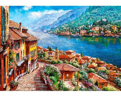 Puzzle Castorland Lago Como 500 Piezas