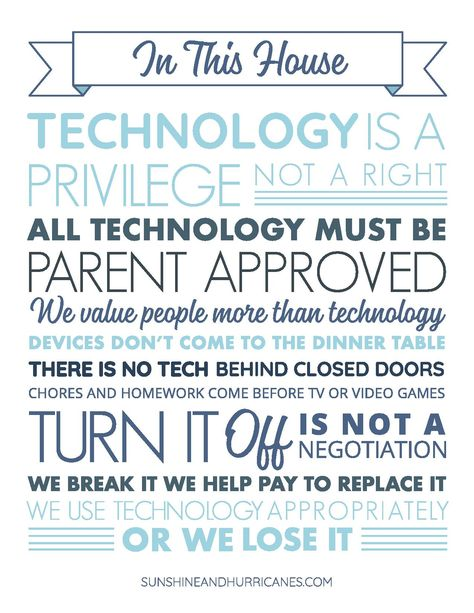 How To Set Meaningful Technology Rules For Your Family That Work.