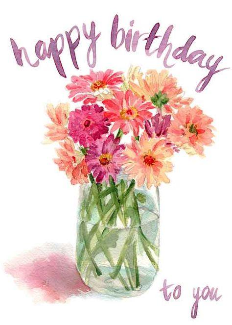 Birthday Greetings Friend, Happy Birthday Wishes For Her, Happy Birthday Floral, Birthday Wishes And Images, Happy Birthday Daughter, Birthday Blessings, Birthday Wishes Quotes, Happy Birthday Pictures, Happy Birthday Messages