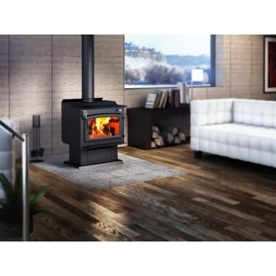 Century Fw3000 25 In Wood Stove 2000 Sq Ft With Blower Epa Certified Wood Stove Freestanding Fireplace Indoor Wood Stove