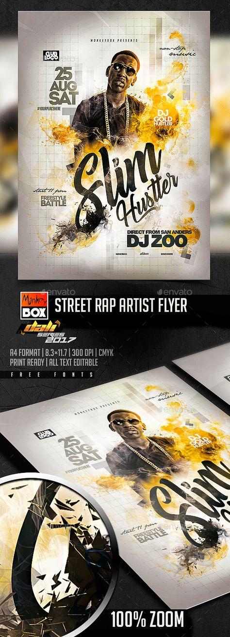 Street Rap Artist Flyer