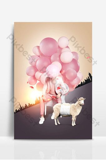 Romantic Balloon Character Poster Design Background Image Backgrounds Psd Free Download Pikbest Banner Background Images Poster Design Background Images