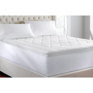 Lucid Polyester Queen Premium Waterproof Mattress Protector Hdls00qqmp The Home Depot In 2020 Queen Mattress Topper Memory Foam Mattress Topper Mattress