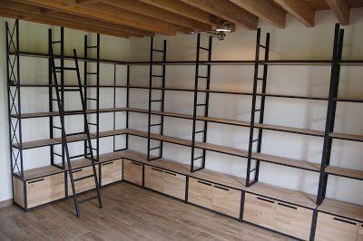 Fabrication Sur Mesure De Meubles En Metal Et Bois De Style Industriel Livraison En France Et En Bibliotheque Bois Metal Mobilier De Salon Bibliotheque Metal