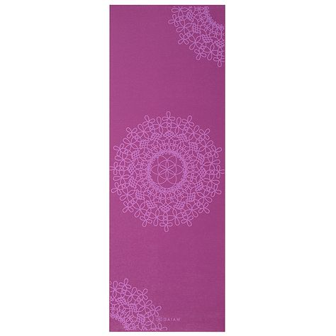 Amazon Com Gaiam Print Yoga Mat Pink Marrakesh 3 4mm Sports Outdoors