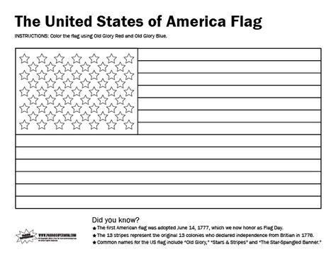 printable usa flag coloring page  flag coloring pages