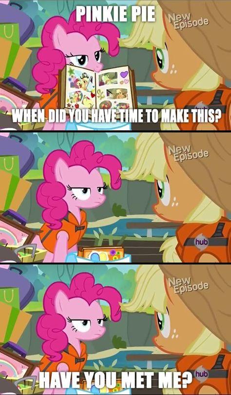 Pinkie Pie and Applejack My Little Pony Comic, My Lil Pony, Pinkie Pie, Mlp Memes, Funny Memes, Imagenes My Little Pony, Little Poni, Mlp Comics, Pony Drawing