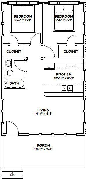 20x32 House 20x32h2d 640 Sq Ft Excellent Floor Plans
