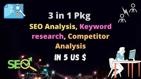Xaman307: I will do keyword research, SEO, and competitor analysis in 5 USD for $5 on fiverr.com