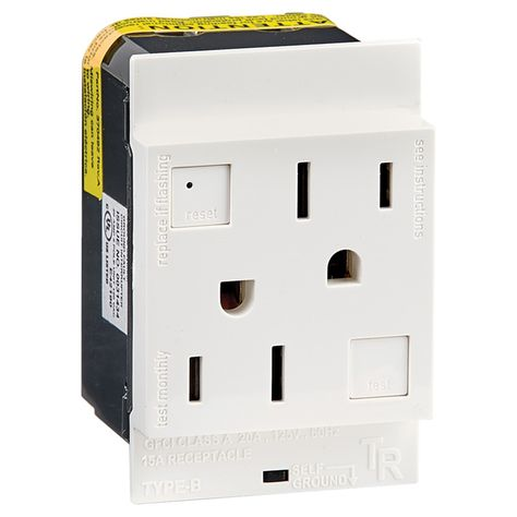 White 15A 20A AMP Tamper Resistant Child Safety Outlet Receptacle Plug T//R