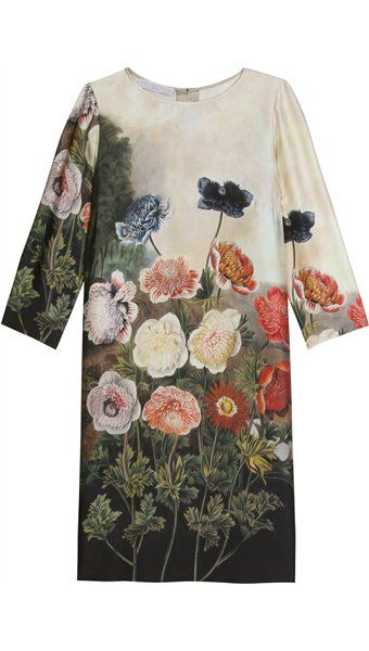 """This looks very """"Temple of Flora"""" circa 1800 to me, botanical art from the romantic period in the UK.  Stella McCartney."""
